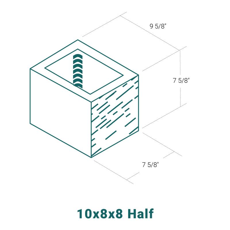 10 x 8 x 8 Half