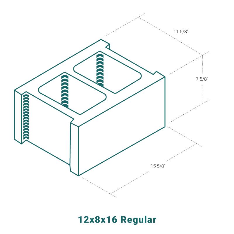 12 x 8 x 16 Regular