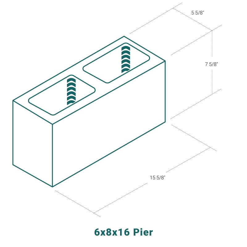 6 x 8 x 16 Pier