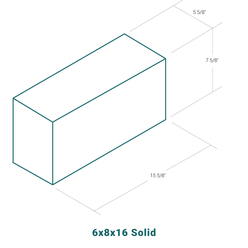 6 x 8 x 16 Solid