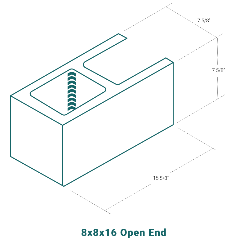 8 x 8 x 16 Open End
