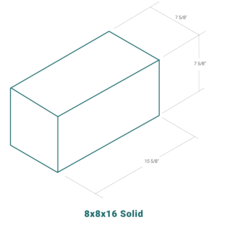 8 x 8 x 16 Solid