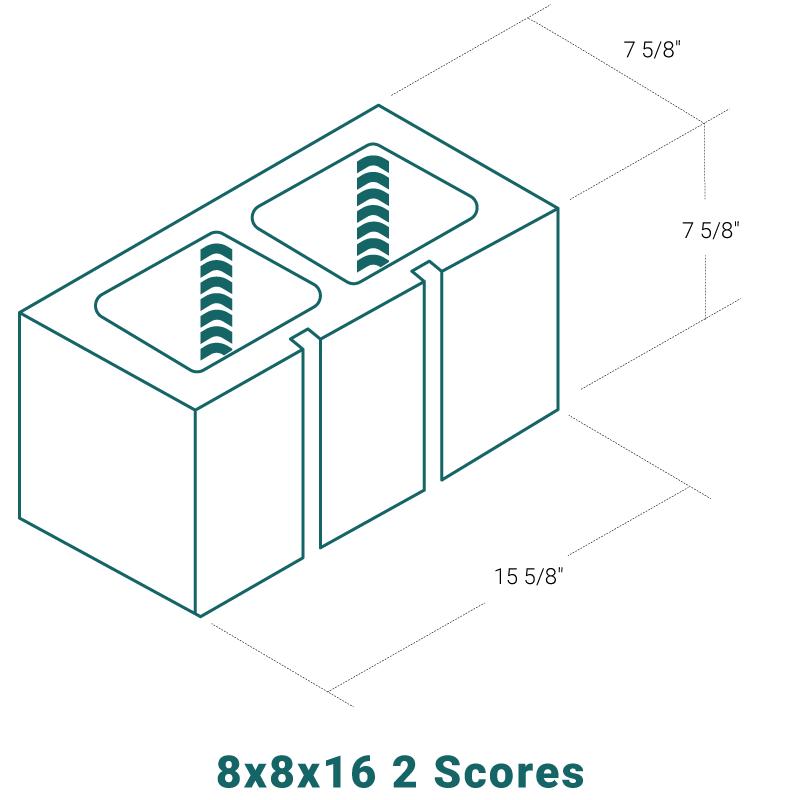8 x 8 x 16 - 2 Scores